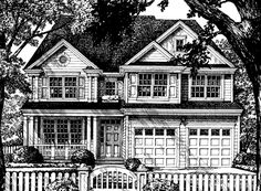 """Bedrooms: 4 actual, 4 possible Baths: 2 full, 1 half Floors: 2 Garage: 1 Fireplaces: 1 Country, Southern, New England, Colonial Kitchen Features: Open Layout, Island, Pantry Master Suite Features: Double Doors, Walk-in Closet, Dual Sinks, Shower, Private Toilet, Spa/Whirlpool Porch, Fireplace Main Floor: 1302 Upper Floor: 1301 Total Heated Square Footage: 2603 Garage: 429 43 '- 0 """" W x 49 '- 0 """" D x 33 """"- 0 """" H Main Floor: 9.0 ' Upper Floor: 8.0 ' Ext. Wall Construction: 2x4 Roof Framing…"""