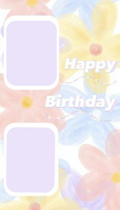 Birthday Captions Instagram, Birthday Post Instagram, Happy Birthday Posters, Happy Birthday Wallpaper, Birthday Wishes, Birthday Cards, Today Is Your Birthday, Happy Birthday Template, Instagram Blog