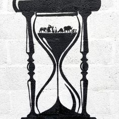 Stencil Graffiti, Stencil Wall Art, Stencil Painting, Display Advertising, Print Advertising, Global Warming Photos, Windmill Hill, Egg Timer, Bristol England
