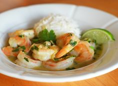 TESTED & PERFECTED RECIPE – In this shrimp curry plump shrimp are simmered in a fragrant coconut sauce infused with lemongrass, ginger & fresh herbs.