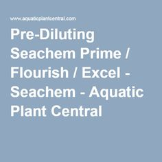 I have a 3 gallon nano tank, and I found that dosing prime/flourish/excel is very difficult since the products are so concentrated. Diy Tank, Aquatic Plants, Planted Aquarium, Flourish, Water Plants