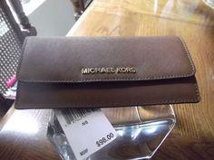 Michael Kors Jet Set Travel Flat Wallet Luggage Saffiano Leather  NWT #MichaelKors #Clutch
