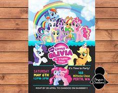 Mi invitación de Pony pequeño. Mi pequeño Pony el cumpleaños.