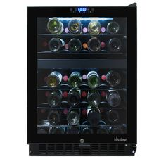 Vinotemp 46-Bottle Dual-Zone Wine Cooler with Seamless Glass Door