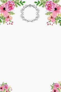 .................................................................................................. Convite ................ Makeup Backgrounds, Flower Backgrounds, Watercolor Wallpaper, Watercolor Flowers, Flower Frame, Flower Crown, Boarder Designs, Iphone 7 Wallpapers, Flower Background Wallpaper