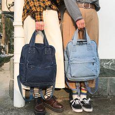 2019 Fashion Korean Vintage Denim Feminine Backpack Rucksack Women School Bags For Teenage Girls small backpack backpack Denim Backpack, Denim Bag, Backpack Bags, Fashion Backpack, Denim Jeans, Bags For Teens, Girls Bags, Mochila Grunge, Sacs Design