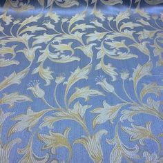 light blue and gold fabric brocade - Google Search