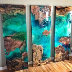 Woodwork💧 Epoxy 💧 DIY Resin Art █🔝█ …Gruß … Woodwork💧 Epoxy 💧 DIY Resin Art █🔝█ … Greetings Art & Glass – Painting Deco 🅘🅝🅢🅟🅘🅡🅐🅣🅘🅞🅝 from the Black Forest. Epoxy Wood Table, Epoxy Resin Table, Epoxy Resin Art, Resin In Wood, Diy Resin Art, Diy Resin Crafts, Resin Furniture, Art Furniture, Acrylic Pouring Art