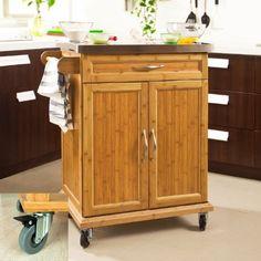 SoBuy® Carrello di servizio, Scaffale da cucina, Mensola angolare, piano in acciaio,FKW13-N(,IT