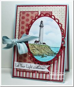 Cards with lighthouse stamp Masculine Birthday Cards, Masculine Cards, Boy Cards, Cute Cards, Nautical Cards, Watercolor Cards, Sympathy Cards, Card Tags, Paper Cards