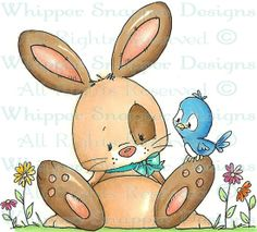 Sweet Bunny - Rabbits - Animals - Rubber Stamps - Shop