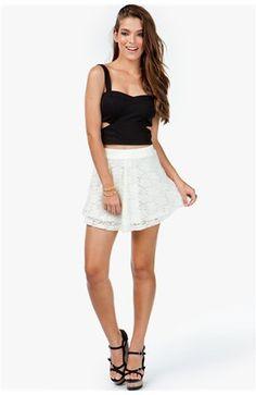 #A`Gaci                   #Skirt                    #A'GACI #Lace #Flare #Skirt #BOTTOMS                A'GACI Lace Flare Skirt - BOTTOMS                                             http://www.seapai.com/product.aspx?PID=1860857