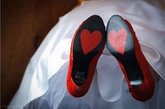 Cute Hearts on Bottom of Brides Shoes! | Robert Ortiz Photography http://www.weddingphotousa.com/newhampshire/robert_ortiz_nh_wedding_photographer.php