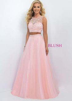 2016 Fancy Beaded Sexy Pink Two Piece Tulle Gown Trendy [blush 11022 pink] – $192.00 : Hot Sale Prom Dresses