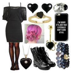 """ My Heart Is Black, But I Don't Care. "" by sacredwitchfox ❤ liked on Polyvore featuring Wolford, Arden B., Palm Beach Jewelry, Soul Journey Jewelry, Betsey Johnson, NOVICA and Casetify"