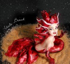 Fairy 😊 - cake by Cécile Beaud - CakesDecor Fondant Figures, Sugar Art, Cake Art, Disney Characters, Fictional Characters, Mermaid, Fairy, Disney Princess, Painting