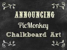 17 PicMonkey Tutorials - how to make chalkboard art using picmonkey