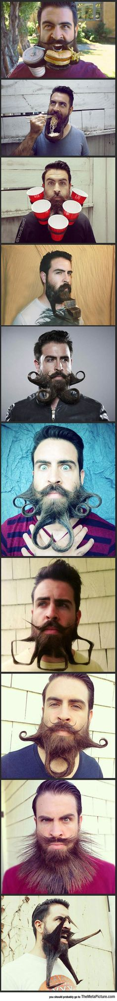 Funny Pictures: Meet Crazy Beard Guy  Ok this might not quite count, but it is pretty funny.
