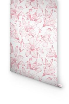 DESCRIPTION Transform any room in your home into a floral paradise with this adhesive wallpaper! This vinyl wallpaper features a soft pastel print of pink lily