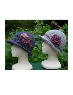 Brimmed Cloche – PA-104 – A crochet pattern from Nancy Brown-Designer. These close fitting hats feature a small brim with a classic edging. Just for fun, make one and embellish it with a cluster of flowers, leaves and berries. For understated sophistication, make another and add a cabbage rose to adorn the side with a matching band to tie it all together. This pattern PDF can be purchased at my Ravelry Pattern Store for $3.99, just click on the photo.