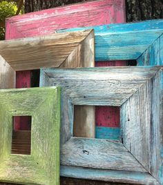 My Dad used to make frames out of old barn wood ... he was definitely a progressive thinker!