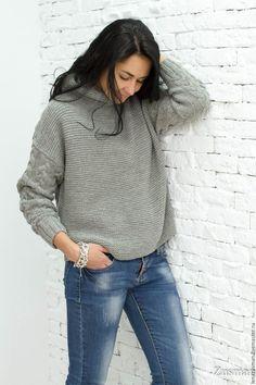 Купить или заказать Модный свитер. Шерсть100%. Копия Max Mara в интернет магазине на Ярмарке Мастеров. С доставкой по России и СНГ. Срок изготовления: 7 дней. Материалы: шерсть 100%, alize, меланж. Размер: Размер любой