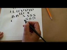 Part 2 Janet Martorello teaching a class on Uncial calligraphy at the International Printing Museum