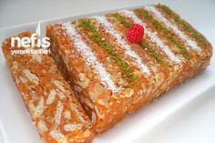 Havuçlu Mozaik Pasta Tarifi ( istersen yuvarlak şekil yap Hindistan cevizine bula )