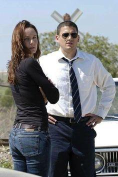 Prison Break, Michael Scofield and Dr. Sara Tancredi (Sarah Wayne Callies) , tv series, show, portrait, photo