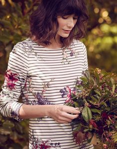 Breton Stripe Tops & Nautical Print Tops For Women Floral Stripe, Floral Tops, Joules Clothing, Striped Jersey, Floral Fashion, Clothes For Women, Outfit, Jersey Tops, Style