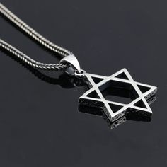 925 Silver Vintage Lucky Five-Pointed Star Pendant Necklace