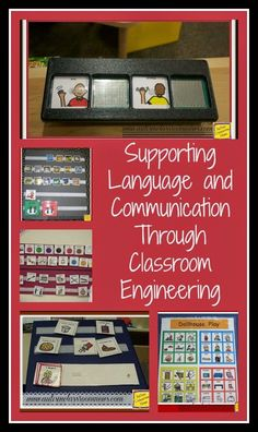 Here are some ways that I organize special education classrooms to support communication and language for students with autism.  I use a variety of means from pictures to PECS to switches or speech generating devices.