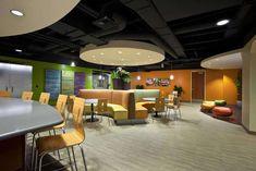 Commercial Interior Flooring Design of Utah First Credit Union Employee Break Room by Centiva