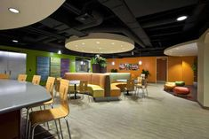 Commercial Interior Flooring Design of Utah First Credit Union Employee Break Room by Centiva