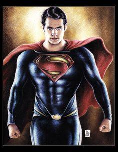 Henry Cavill, Superman by louissollune