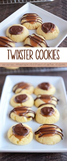 Twixster Cookies {Shortbread + Caramel + Chocolate}