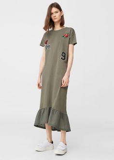 Decorative patches dress | MANGO