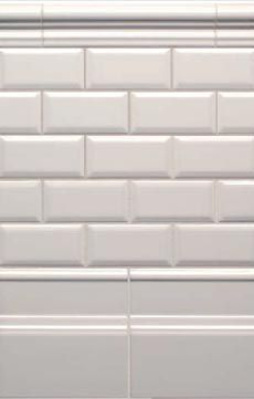 ceramic tile for Kaylee's bathroom, I can get 4x8 or these 3x6. they have a beveled edge that is super interesting.