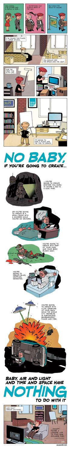 cartoon based on charles bukowski quote person changes environment but doesn't change himself