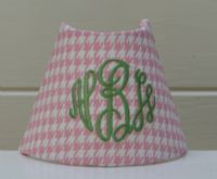 monogrammed nightlight-got these for the girls!
