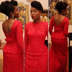 Sexy Red Lace Evening Dresses Long Sleeve Dubai Abaya Plus Size Backless Prom Party Gowns Aso Ebi Style Formal Dresses Floor Length
