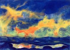 Autumn Sky at Sea by Emil Nolde