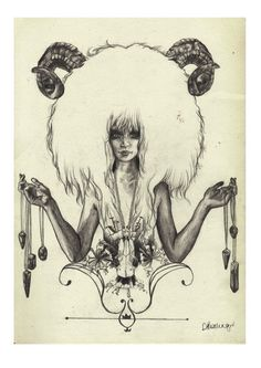 Aries A4 Fine Art Print on Hahnemuhle Smooth by DBIllustrations, £15.00