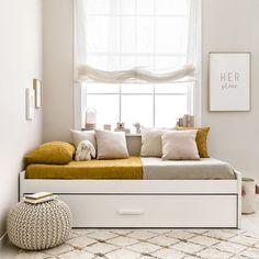 Hiba cama nido / ¡La combinación ideal! Hiba, una cama infantil con cama nido en color blanco. ¡A los peques de la casa les encantará!