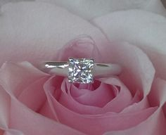 Tiffany & Co 0.70ct H/VVS2 Lucida Cut Diamond Solitaire Engagement Ring Platinum