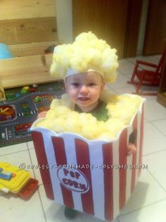 Homemade Toddler Popcorn Halloween Costume... Home Made Toddler Costumes