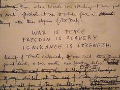 """artistiq-ue: George Orwell's """"1984"""", Original corrected manuscript - completed December 1948"""