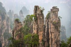 Book your trip to China to see the Tianzi Mountains! Take a two-hour scenic walk, then arrive to you... - Shutterstock