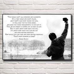 Shop | Rocky Balboa Boxing Motivational Quote Wall Art | $$13.65 | Unique Home Decor