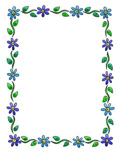 Cute Stationary Border